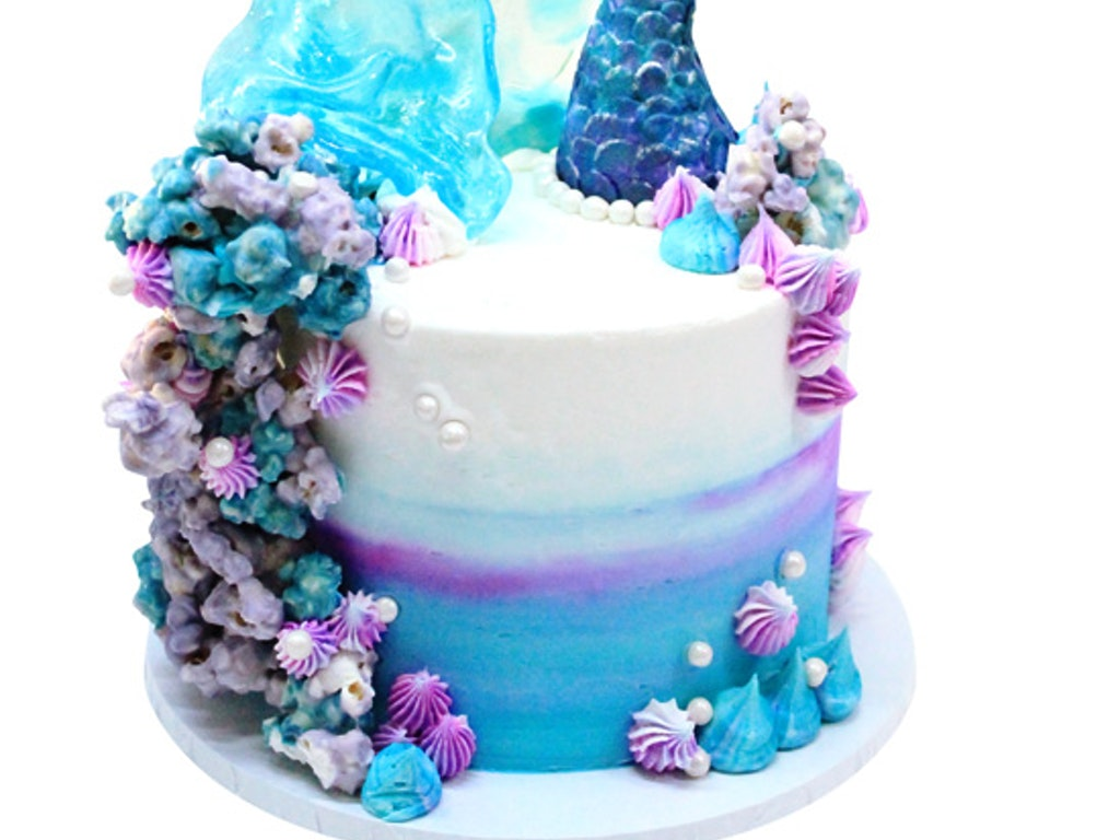 Mermaid Round Buttercream Cake Class Malaga Wa