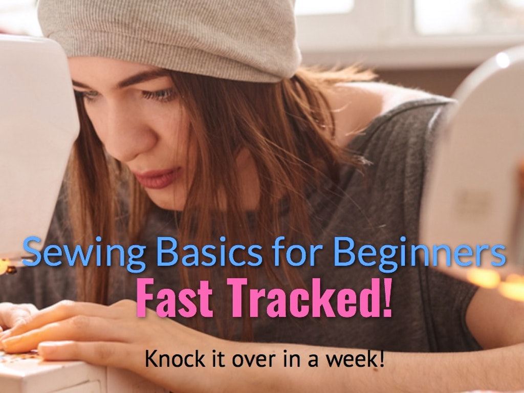 Sewing for beginners fast tracked banner