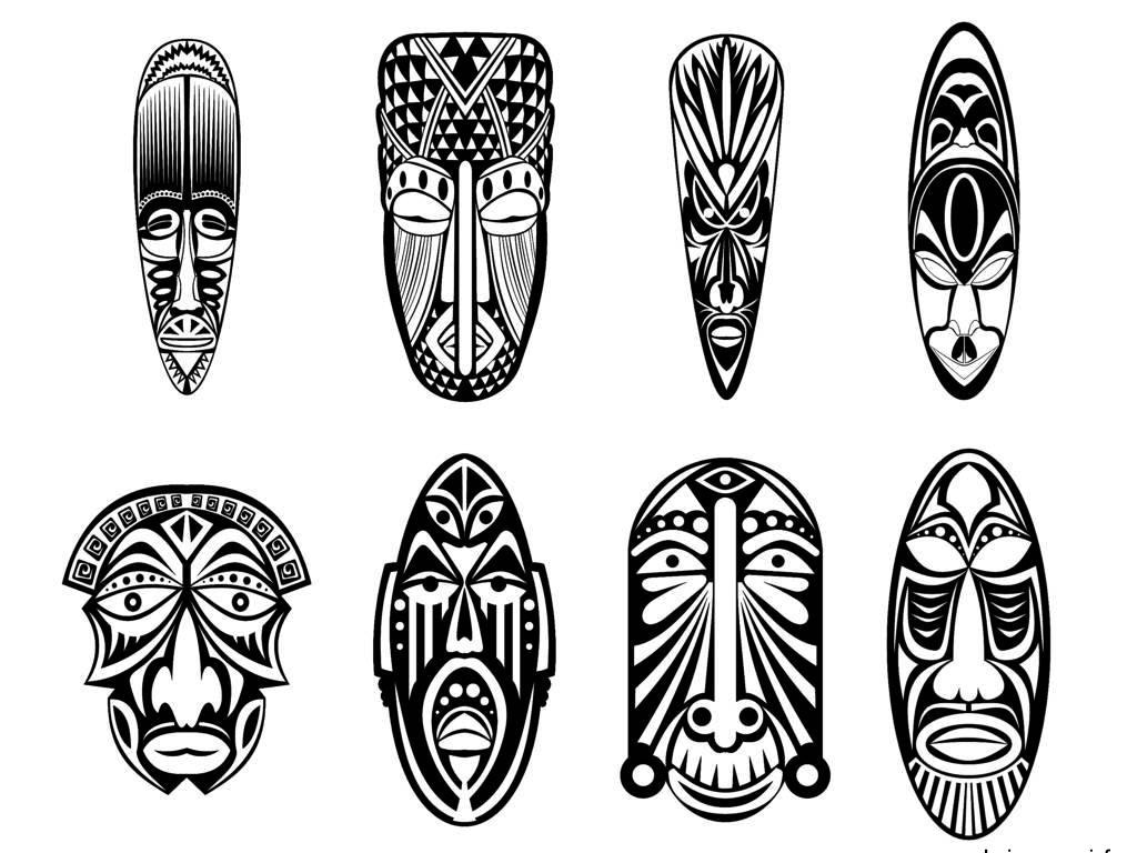 100143269-indian-aztec-african-mexican-historic-tribal-mask