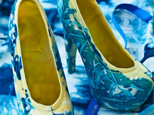 Shibori Inspired Chocolate High Heel Class at Celebration Cooking
