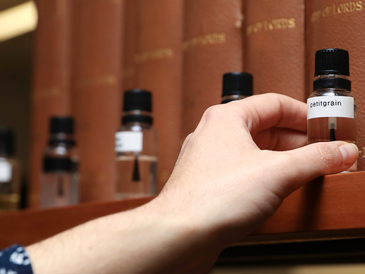 The scent design process in a Perfume Playground experience involves using the most precious natural ingredients.