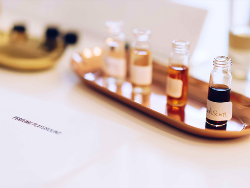 Learn the language of perfumery and in-depth knowledge of The Four Seasonal aromatics in the Natural Fragrance series: Summer Rose, Autumn Frankincense, Winter Cinnamon & Spring Peppermint