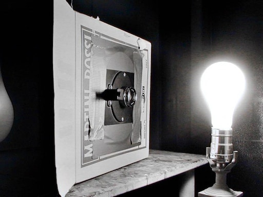 A pinhole camera can be built from the most rudimentary of materials. Photo Credit: Artist Abelardo Morell
