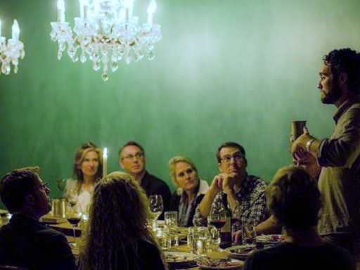 The dinner that starts conversations about the end. Photo Credit: Huff Post