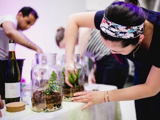 Green your office with gorgeous rainforest terrariums - handcrafted by your team!