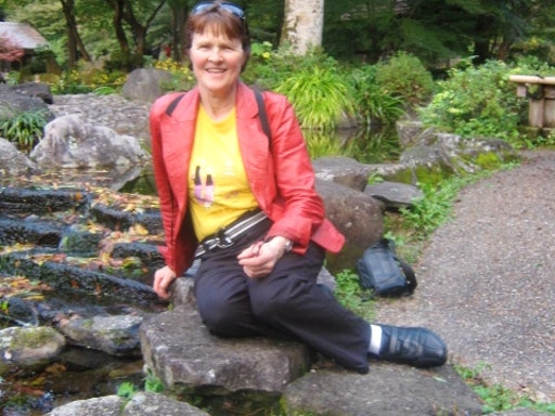 Carole in one of her Japan trips