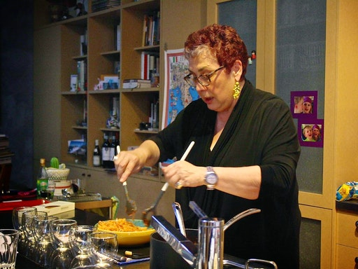 Sandra Del Greco in her home where she holds her classes