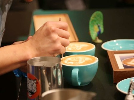 Coffee Art at The Coffee School