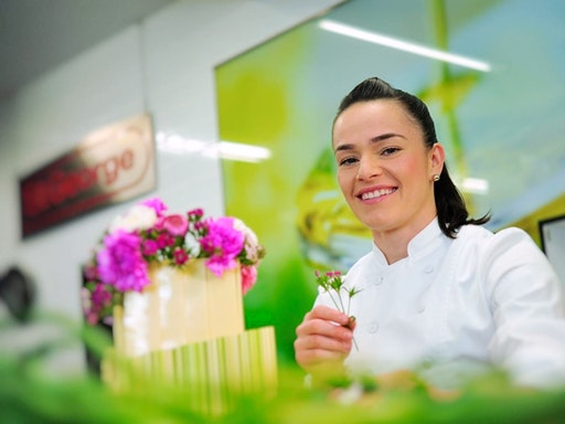 Renowned chef Jessica Pedemont of Celebration Cooking (Photo Credit to Fine Food Australia)