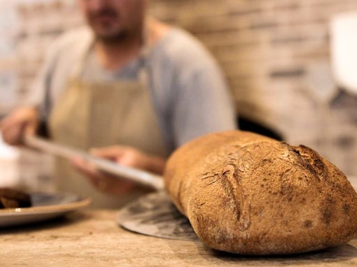 A beautiful rustic bread creation by Dust Bakery