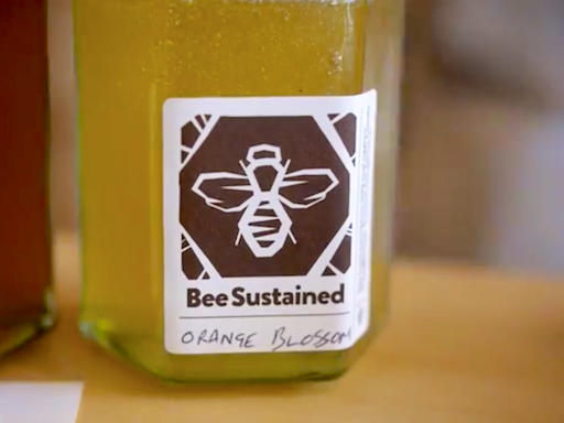 A range of sustainable products are sold at the shop, including honey