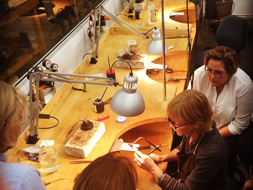 Their studio is fully equipped for students and practicing Jewellers and Silversmiths